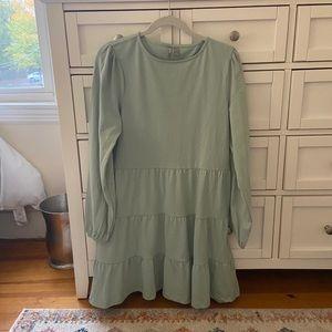 Mint green tiered mini dress from ASOS